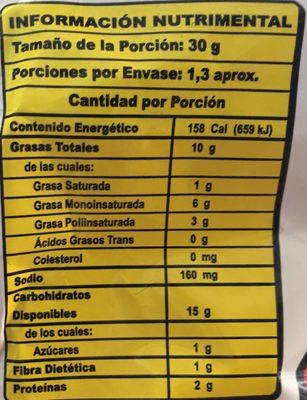 Cheetos Bolitas - Voedingswaarden - es