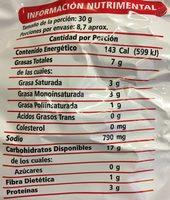 Sabritones - Nutrition facts - es