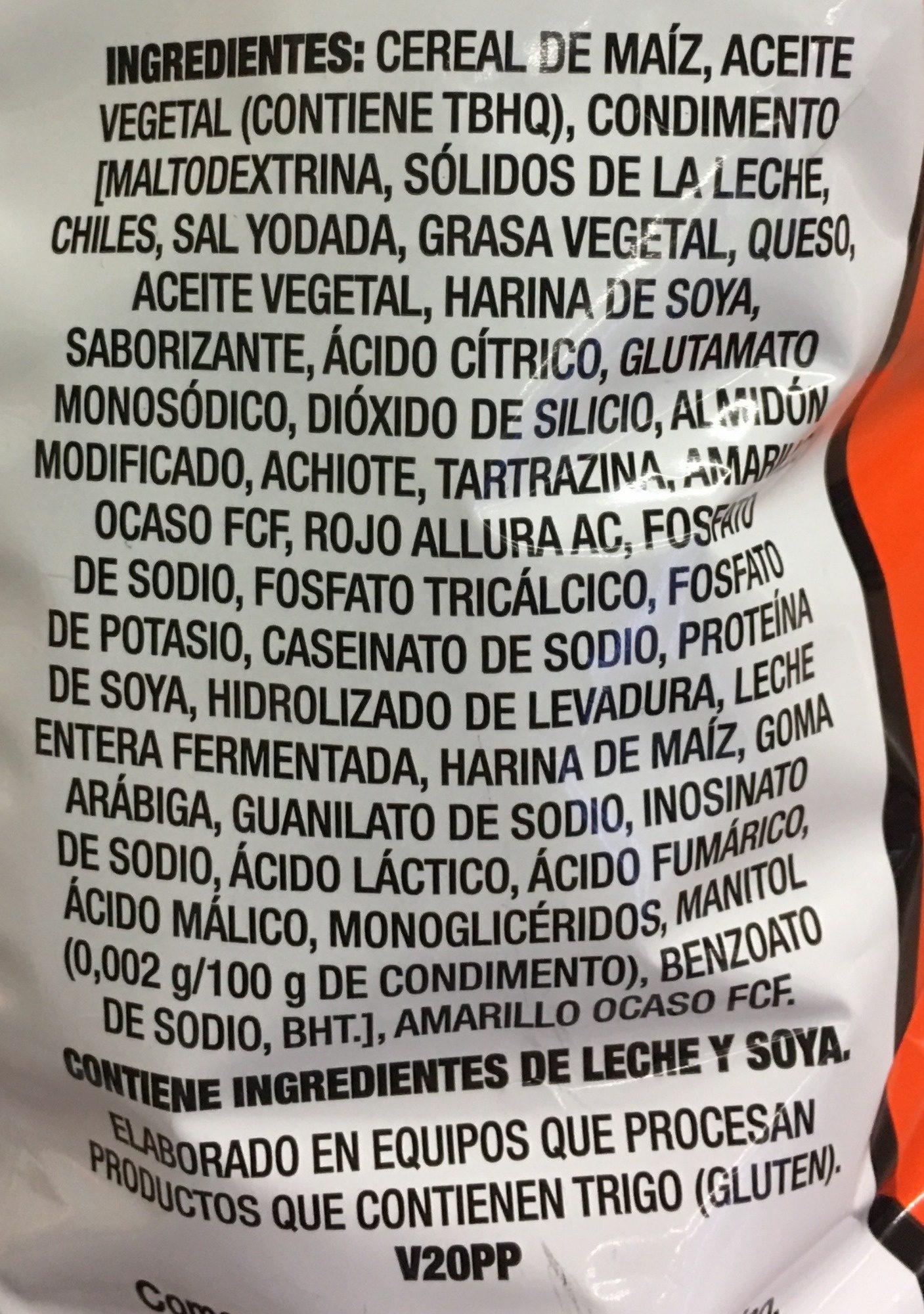 Torcidos - Ingrediënten - es