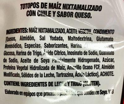 Nacho - Ingredientes - es