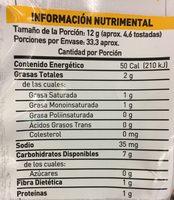 Tostitos Nachos - Informations nutritionnelles - es