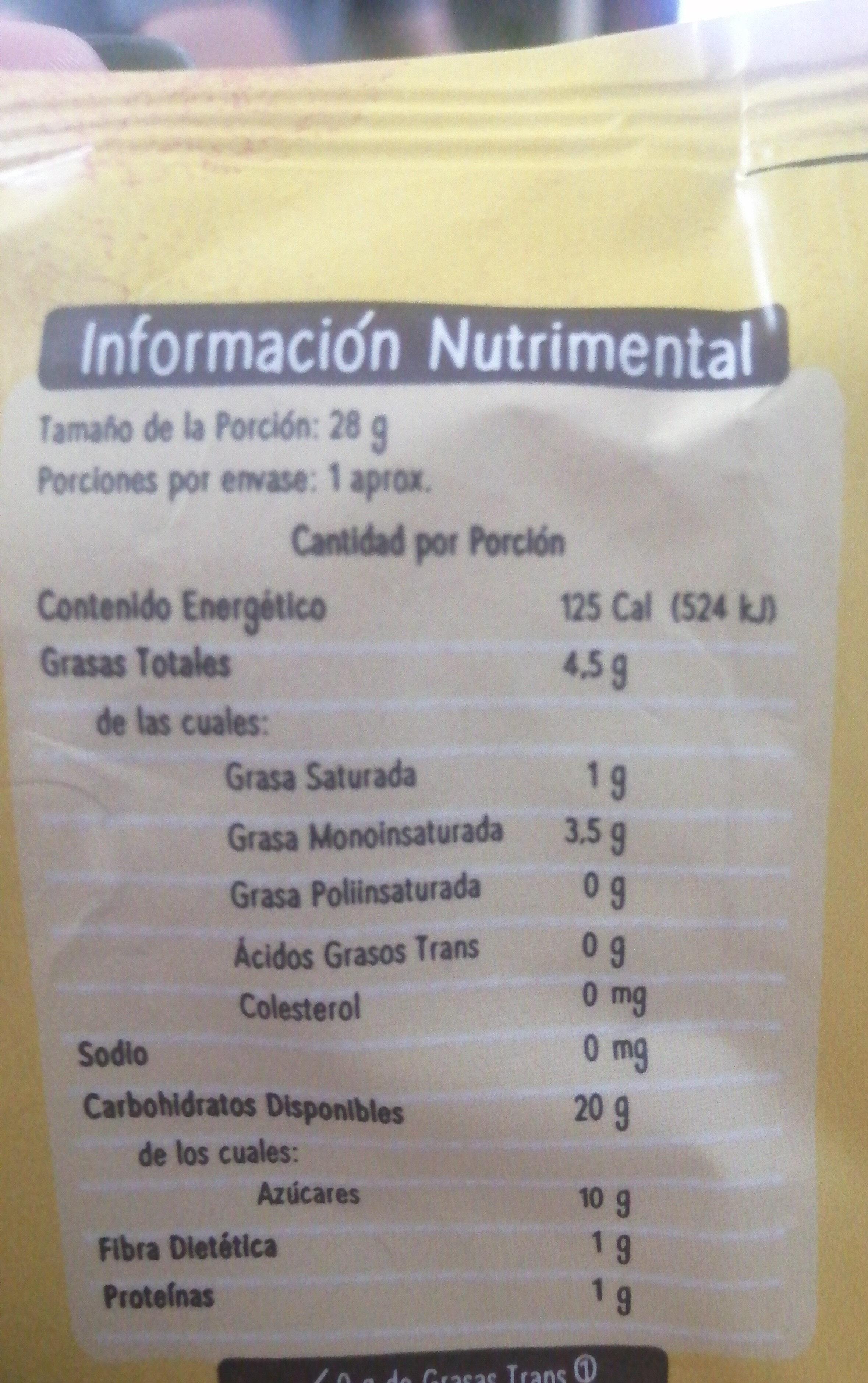 PLATANITOS - Voedingswaarden - es