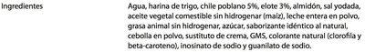 CREMAS CHILE POBLANO - Ingredientes - es