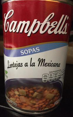 LENTEJAS A LA MEXICANA - Producto - es