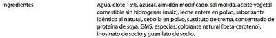 CREMA DE ELOTE - Ingredientes - es