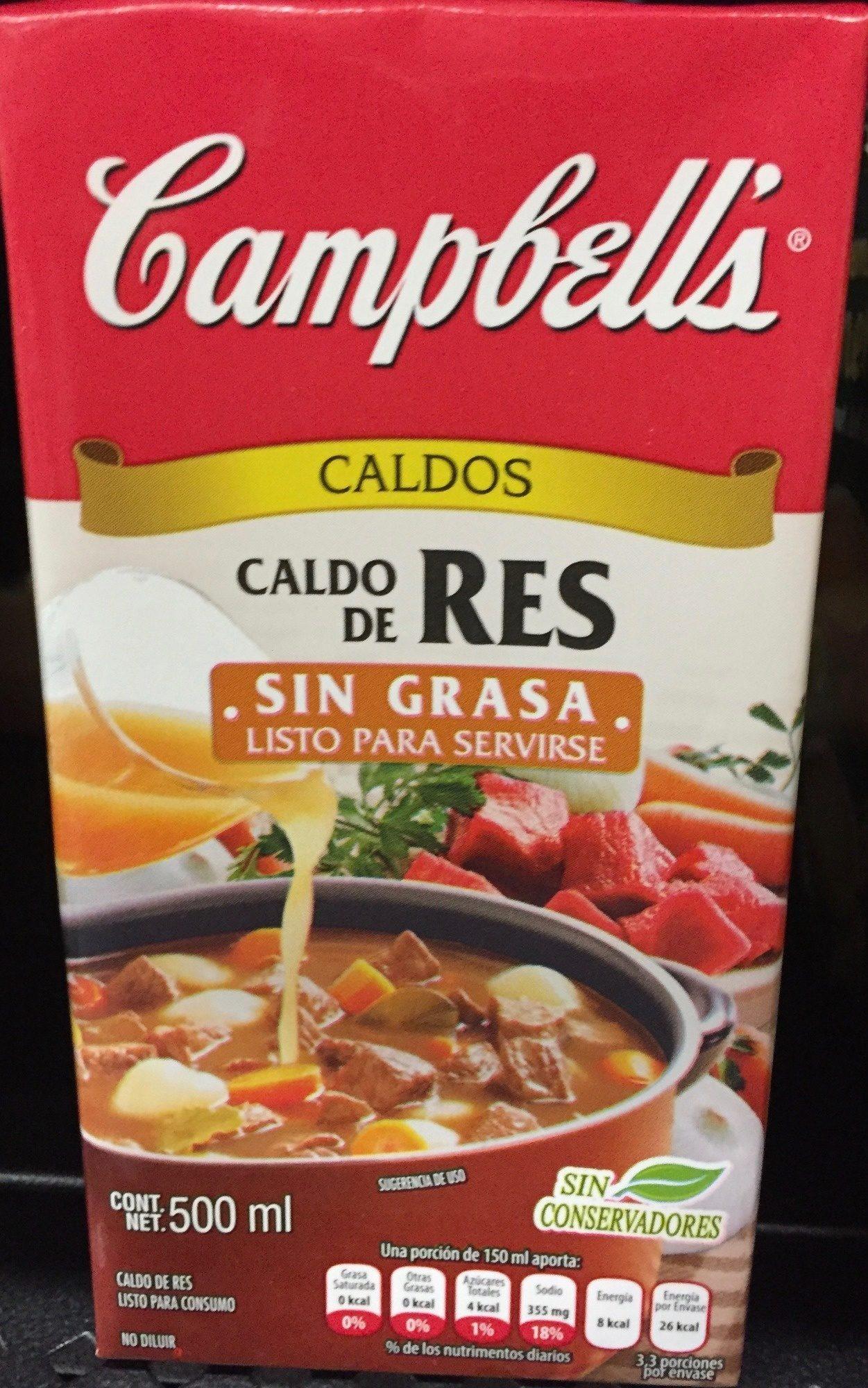 CALDO DE RES SIN GRASA - Producto - es