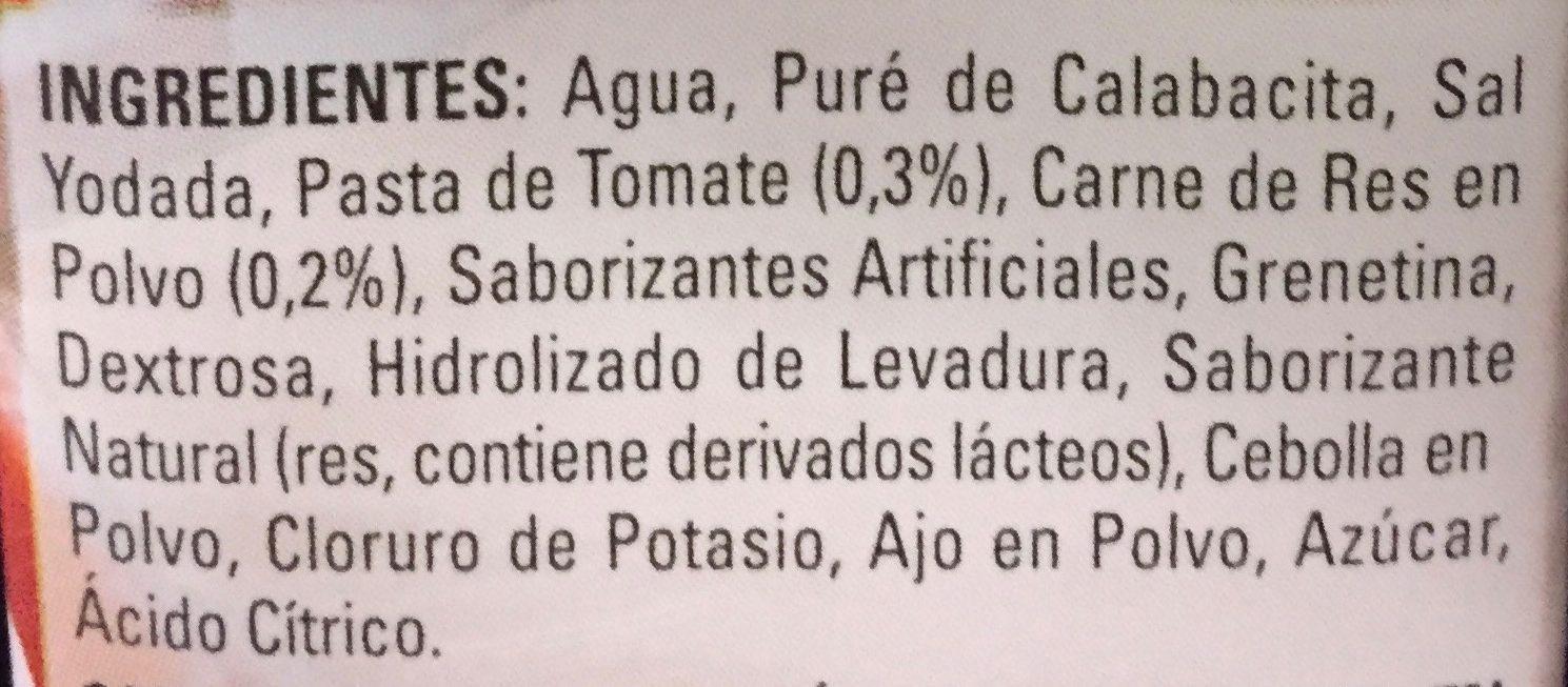 CALDO DE RES SIN GRASA - Ingredientes - es