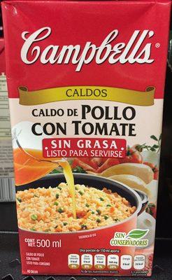 CALDO DE POLLO CON TOMATE SIN GRASA - Producto - es
