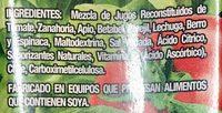 V8 jugo de verduras - Ingredientes - es