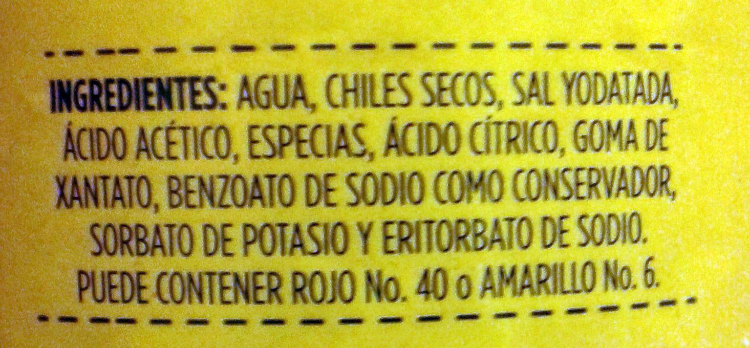Guacamaya tradicional - Ingredients - es