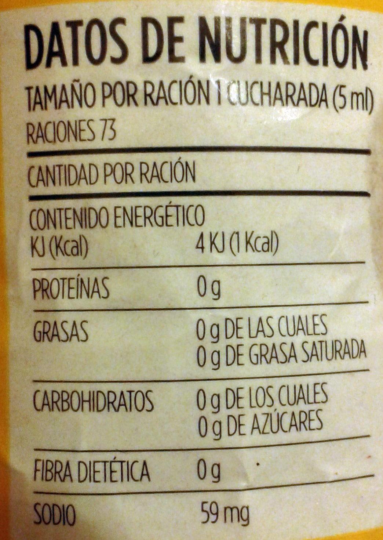 Guacamaya tradicional - Nutrition facts - es
