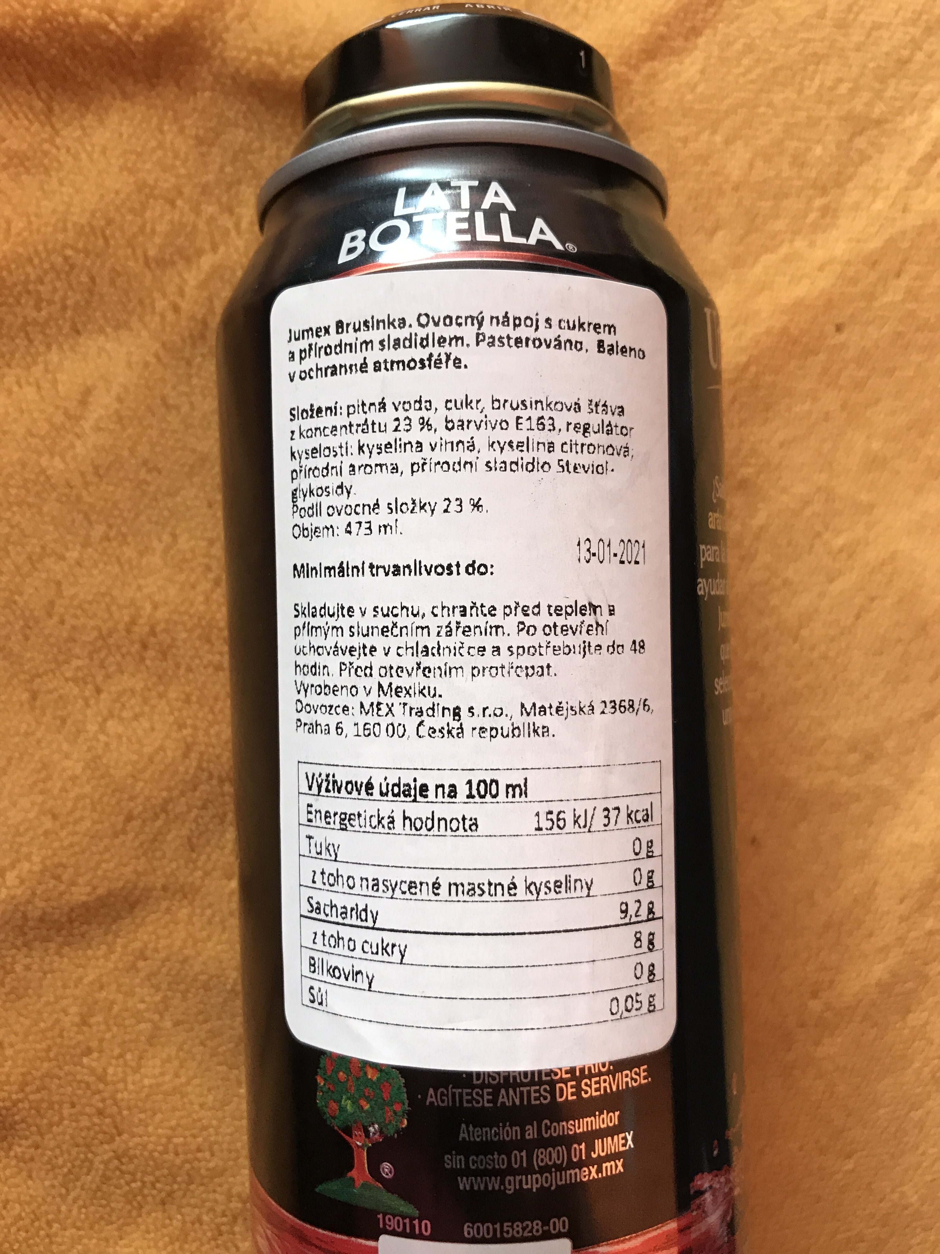 Jumex jugo de arandano - Ingredientes - fr