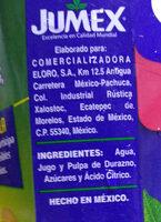 Nectar De Melocoton Jumex - Ingredientes - es