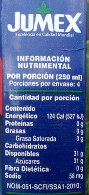 Nectar De Melocoton Jumex - Información nutricional - es