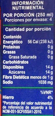 Jumex Tomate - Informations nutritionnelles - es