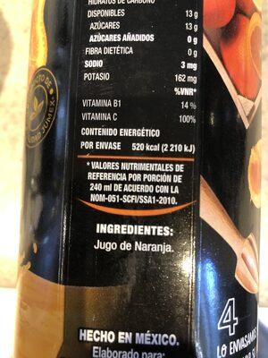Jugo naranja jumex - Ingredientes - es