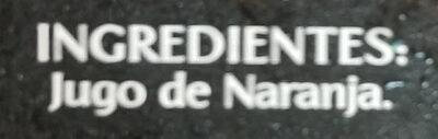 Jugo naranja jumex - Ingrédients - fr