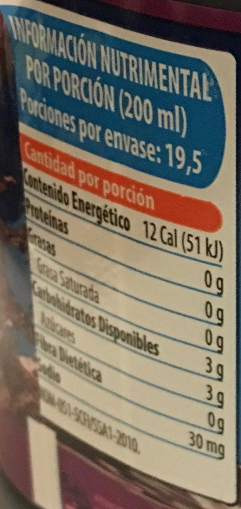 Jumex Amí - Nutrition facts - es
