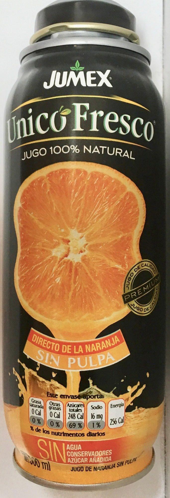 Jumex Unico Fresco Naranja 100% natural - Product - es