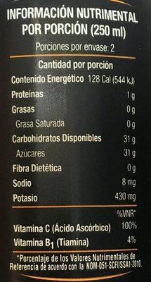Jumex Unico Fresco Naranja 100% natural - Voedingswaarden - es