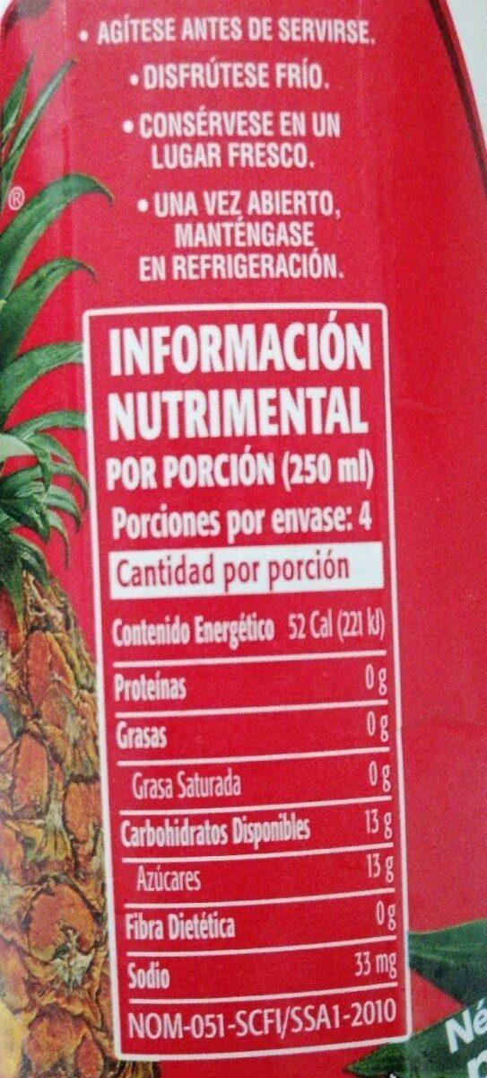 Vigor - Nutrition facts