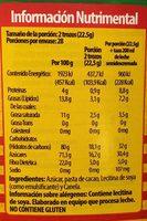 Chocolate para mesa tradicional mexicano - Informations nutritionnelles - es