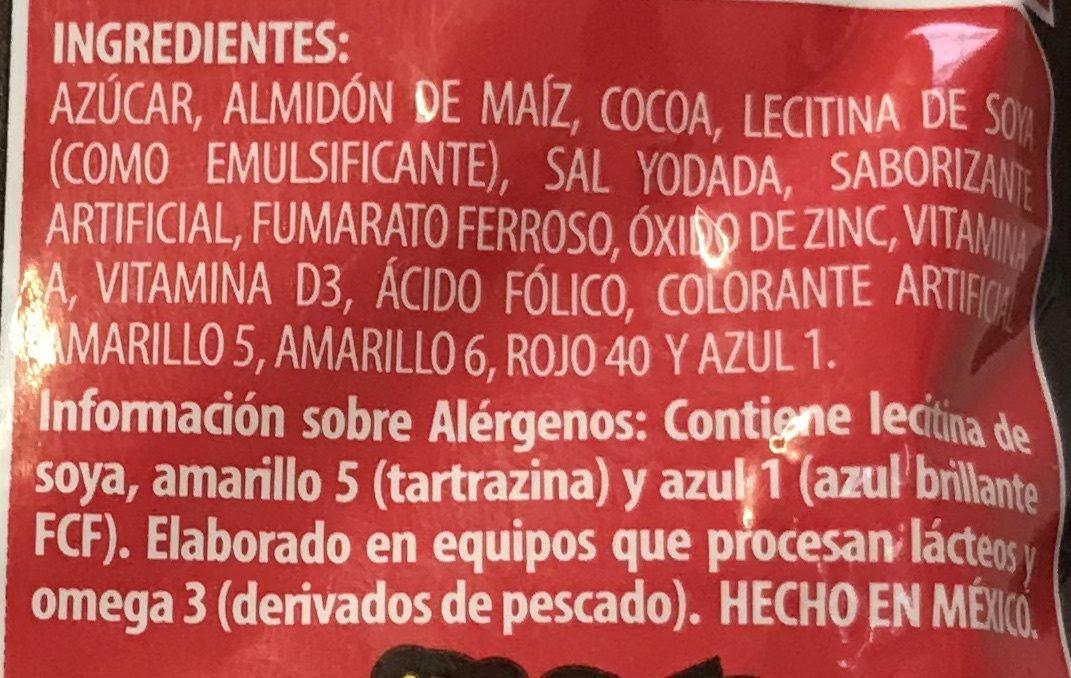 Polvo para preparar bebida sabor a chocolate - Ingrediënten - es