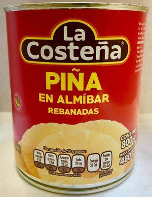 PIÑA EN ALMÍBAR EN REBANADAS LA COSTEÑA - Produit - es