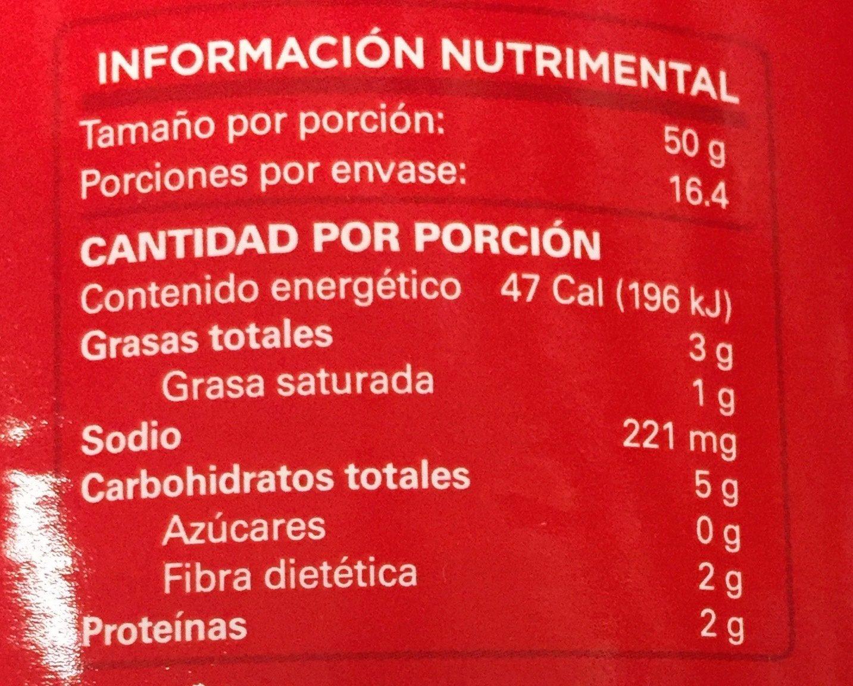 FRIJOLES BAYOS REFRITOS - Voedingswaarden - es