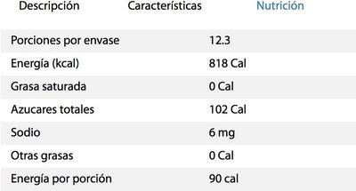 Vinagre de manzana La Costeña - Nutrition facts