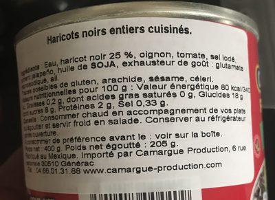 Frijoles - Ingredients