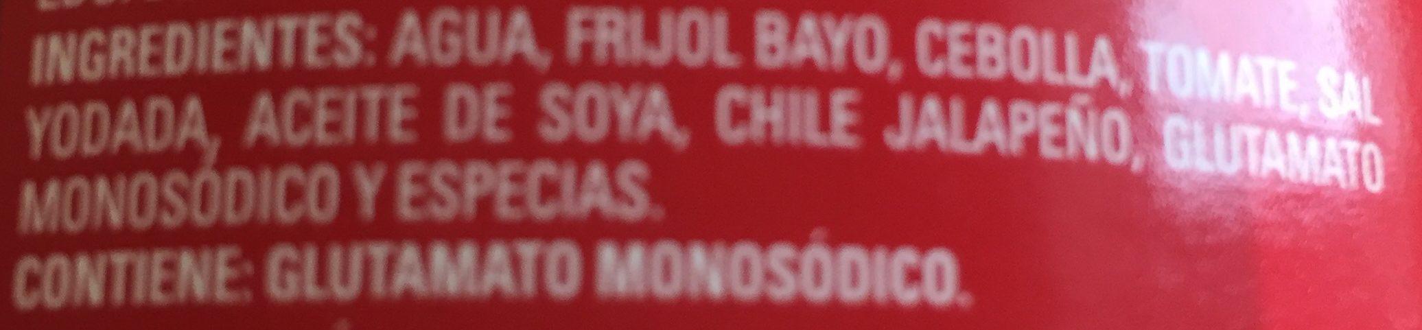Frijoles Bayos Enteros - Ingrédients - fr