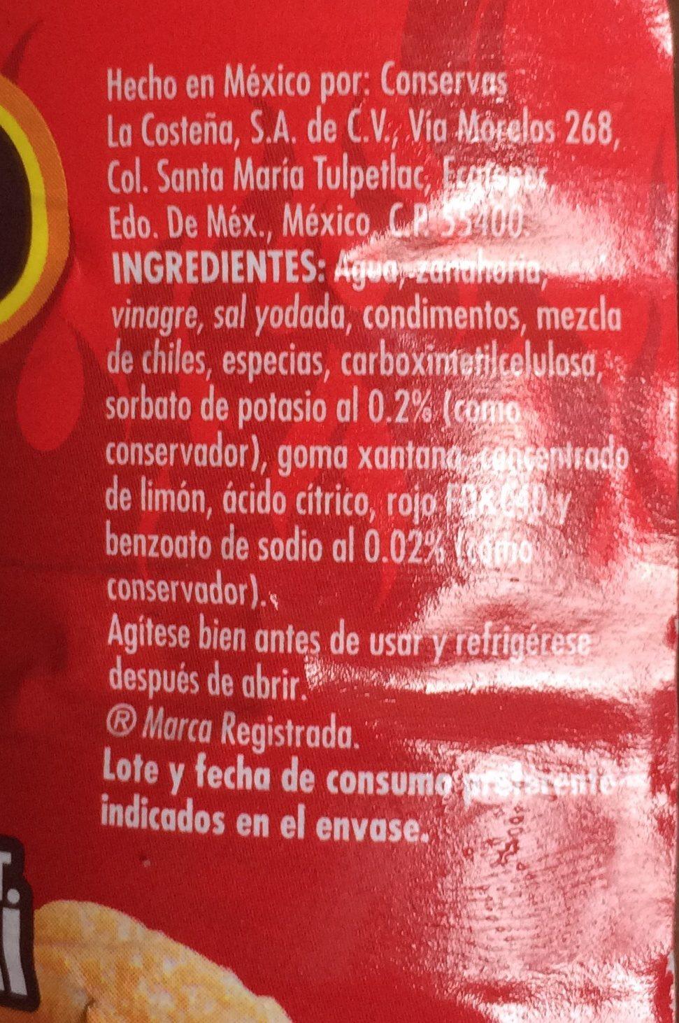 Salsa Picante Para Botana 370 ml - Ingrediënten