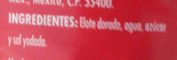 Elote dorado - Ingrediënten