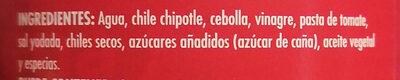 Chipotles picados - Ingredientes - es