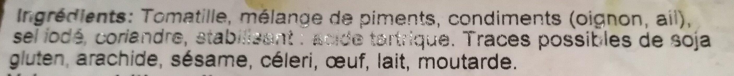 La Costeña Salsa Verde - Ingredientes - fr