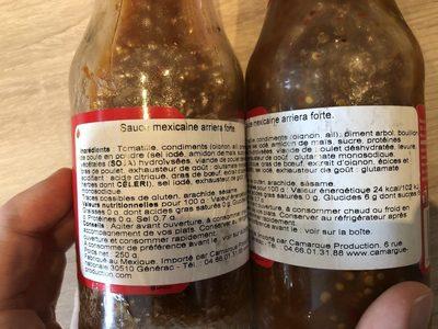 Salsa Arriera - Ingrédients