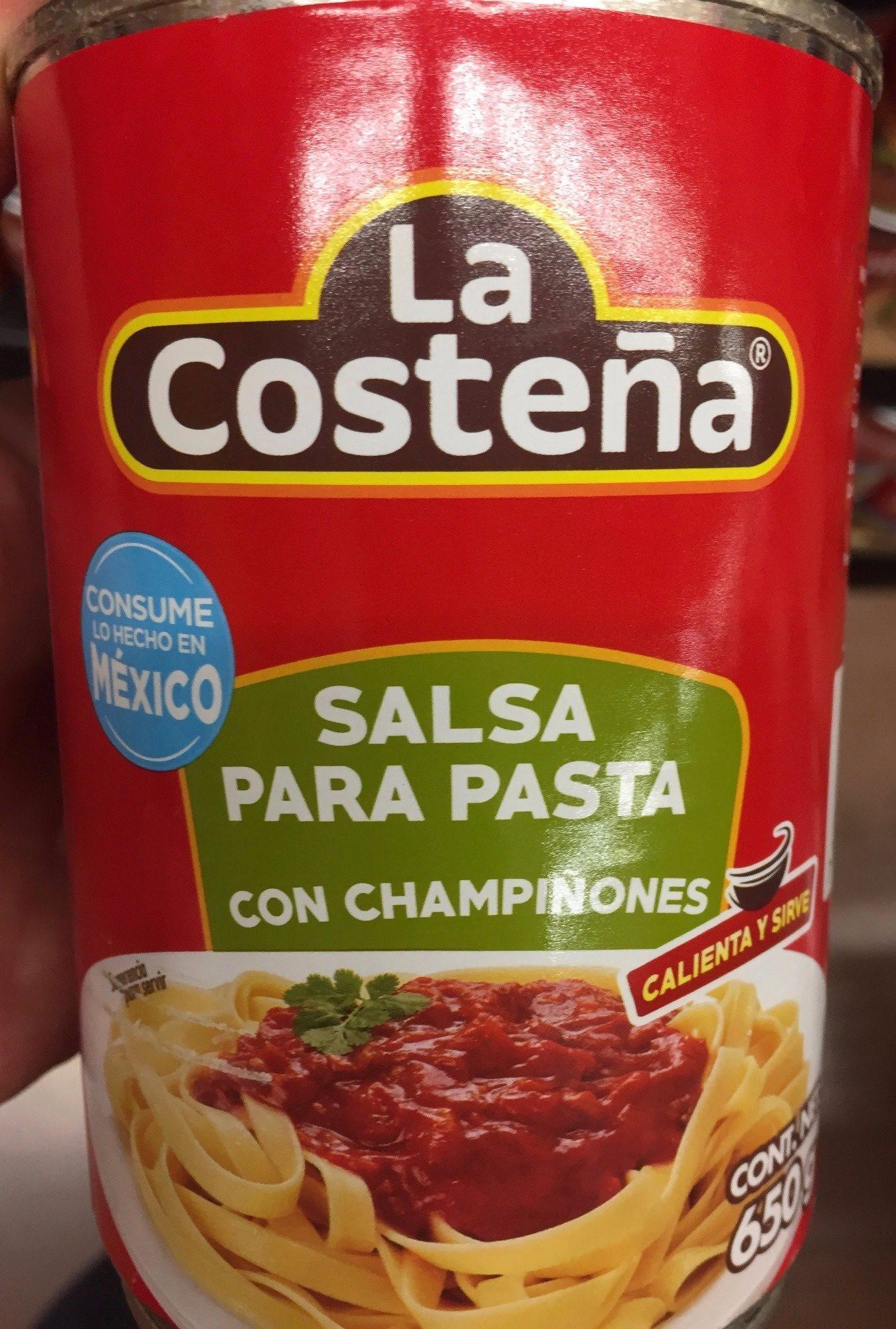 SALSA PARA PASTA CON CHAMPIÑONES - Product - es