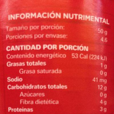 Garbanzos La Costeña - Nutrition facts - es