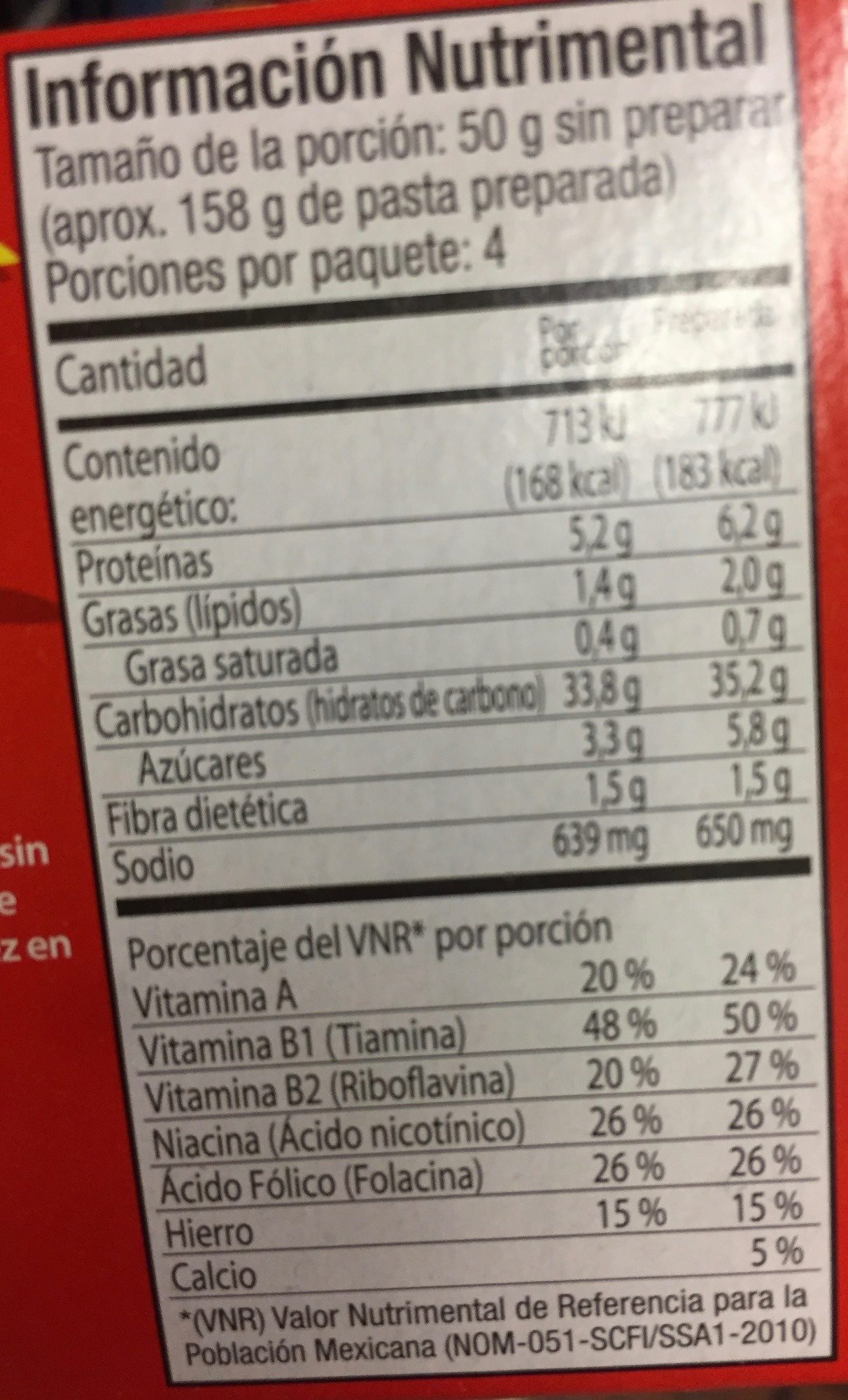 La Moderna Spaghetti con salsa de tomate - Informations nutritionnelles - es