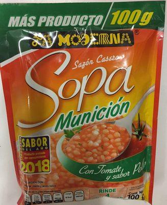 sopa munición con tomate y sabor a pollo - Product