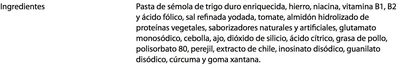 Sopa de letra - Ingredientes - es