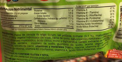 Kids sopa - Ingredientes - es