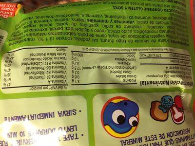 Kids sopa - Información nutricional - es