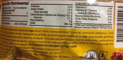 sopa de coditos abanero - Ingrédients - es
