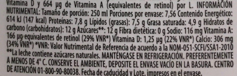 LECHE MONARCA ENTERA - Nutrition facts - es