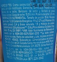 crema reducida en grasa lala - Ingrediënten