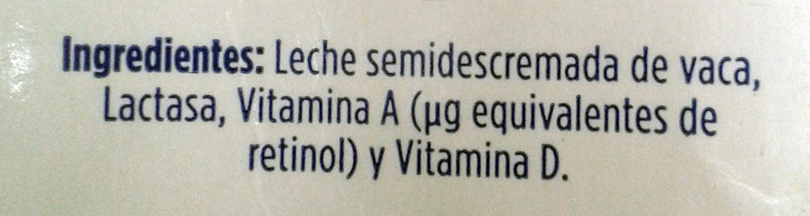 LALA deslactosada - Ingredientes - es