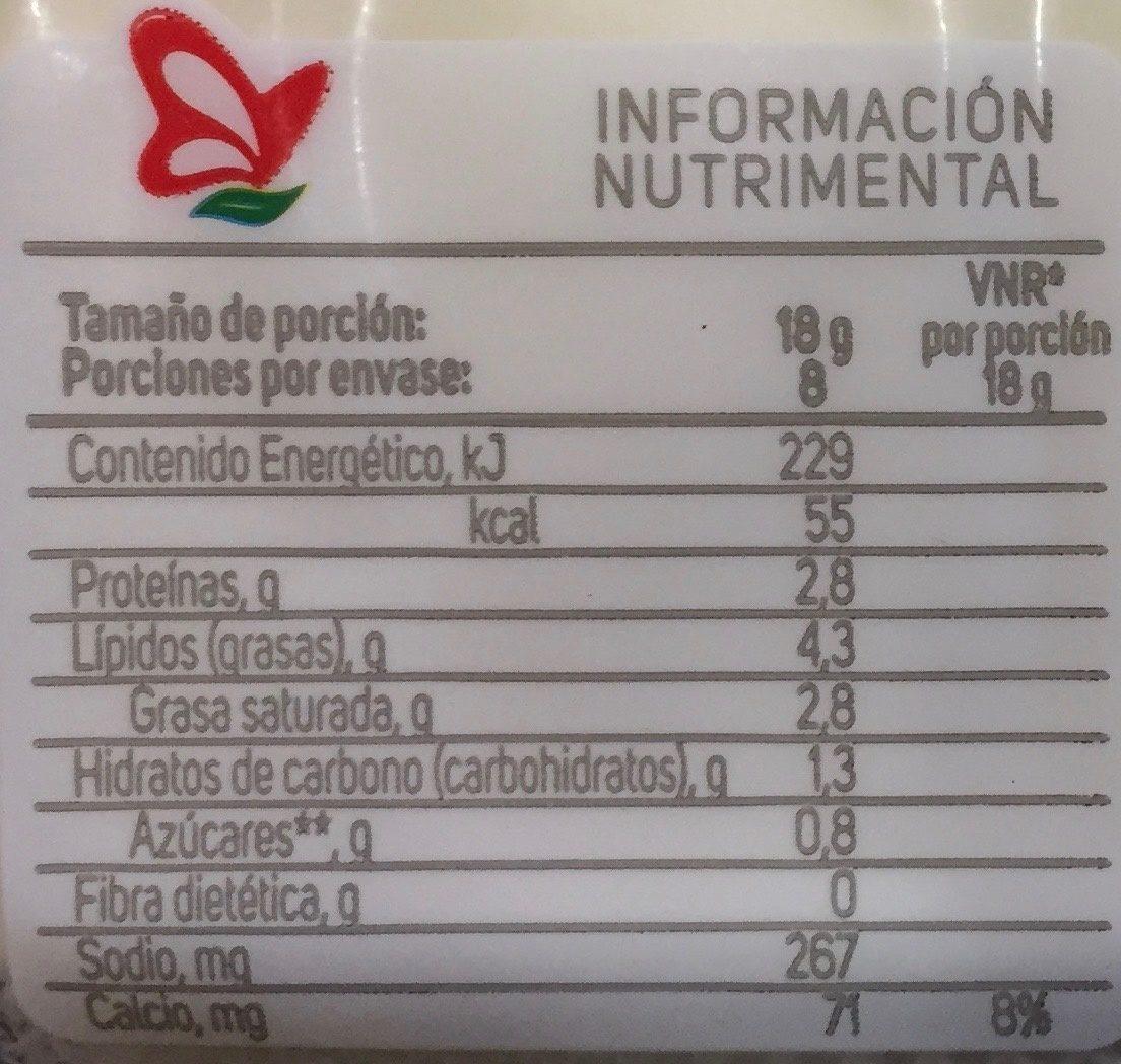 Aporte nutricional del queso oaxaca