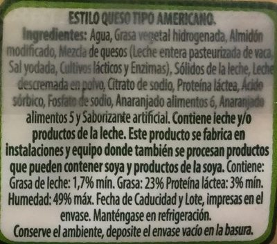 Americano Nutri Leche - Ingrediënten - es
